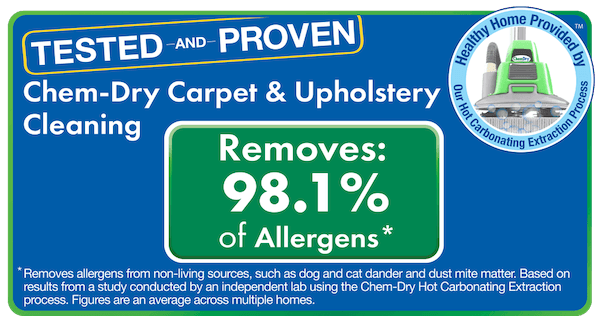 tested and proven chem dry allergen study