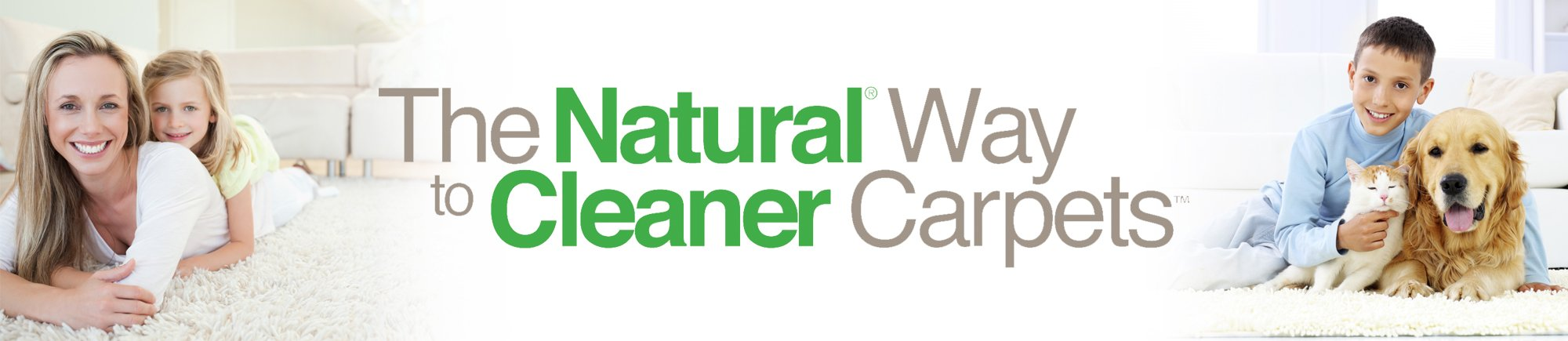 natural cleaning carpets family image